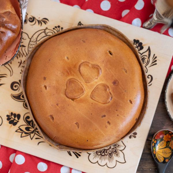 Круглый пирог с капустой