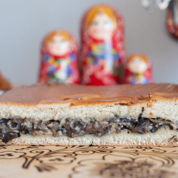 Пирог с грибным жульеном