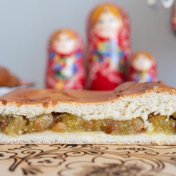 Пирог с лимоном и изюмом
